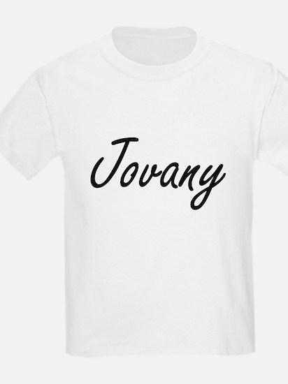 Jovany Artistic Name Design T-Shirt