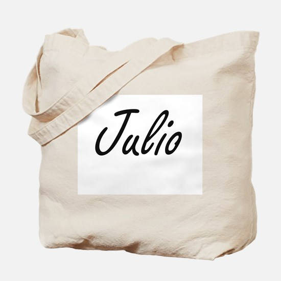 Julio Artistic Name Design Tote Bag