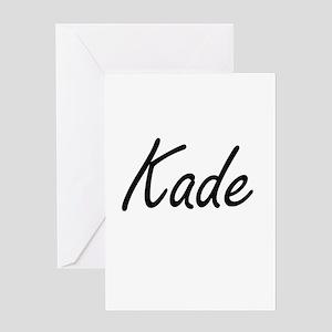 Kade Artistic Name Design Greeting Cards