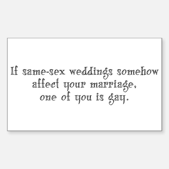 Same Sex Weddings - long Decal