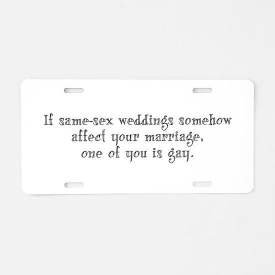 Same Sex Weddings - long Aluminum License Plate
