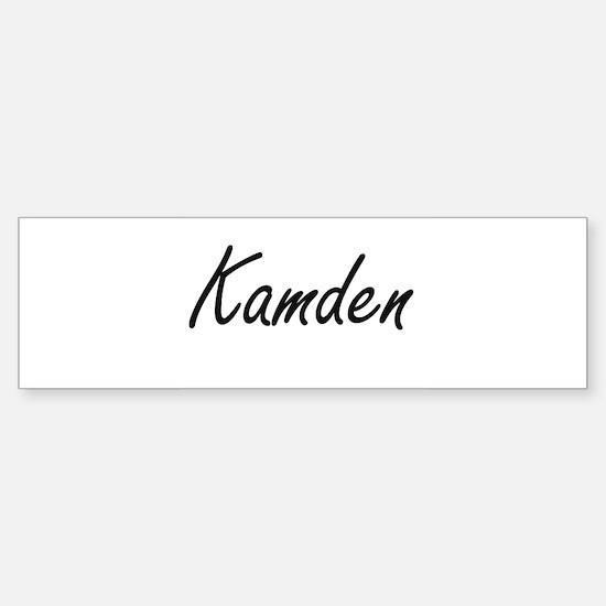 Kamden Artistic Name Design Bumper Bumper Bumper Sticker