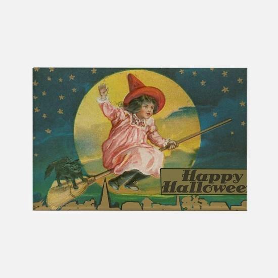 Unique Vintage happy halloween Rectangle Magnet