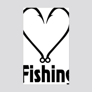Love Fishing Sticker (Rectangle)