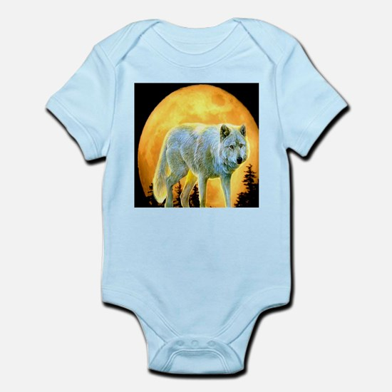western forest moonlight wolf Body Suit