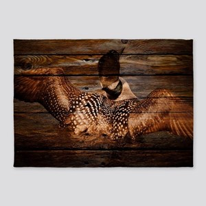 barn wood wild loon 5'x7'Area Rug