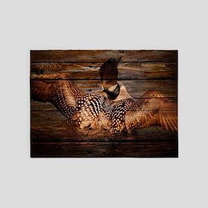barn wood wild loon 5'x7'Area Rug