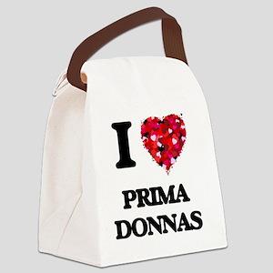 I Love Prima Donnas Canvas Lunch Bag