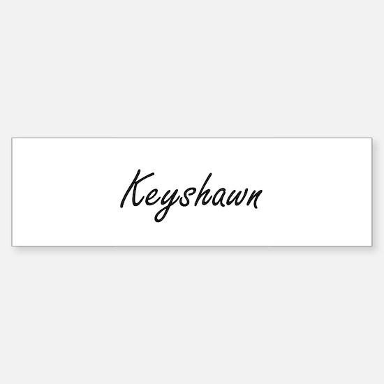 Keyshawn Artistic Name Design Bumper Car Car Sticker