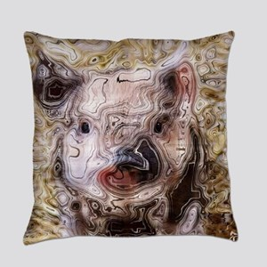 scribbled Piglet Everyday Pillow