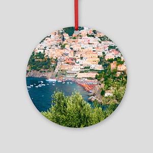 Italy, Amalfi Round Ornament