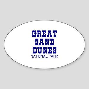 Great Sand Dunes National Par Oval Sticker