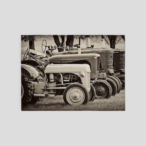 Tractors 5'x7'Area Rug