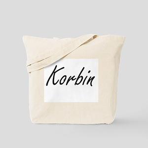 Korbin Artistic Name Design Tote Bag
