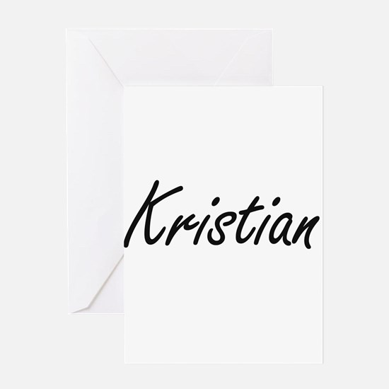 Kristian Artistic Name Design Greeting Cards