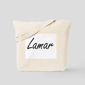 Lamar Artistic Name Design Tote Bag