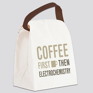 Coffee Then Electrochemistry Canvas Lunch Bag