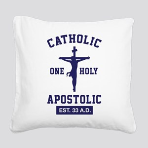 One Holy APOSTOLIC Square Canvas Pillow