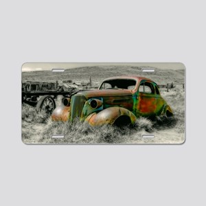 1937 Master Coupe wreck Aluminum License Plate