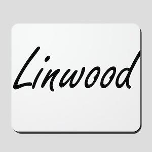 Linwood Artistic Name Design Mousepad