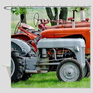 American Farm Tractors Shower Curtain