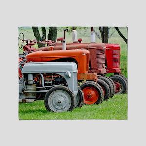 American Farm Tractors Throw Blanket
