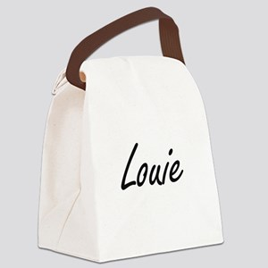 Louie Artistic Name Design Canvas Lunch Bag