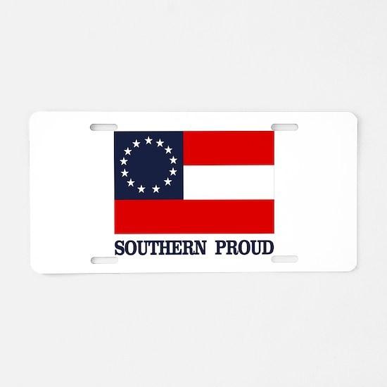 1 Nat (Southern Proud) Aluminum License Plate