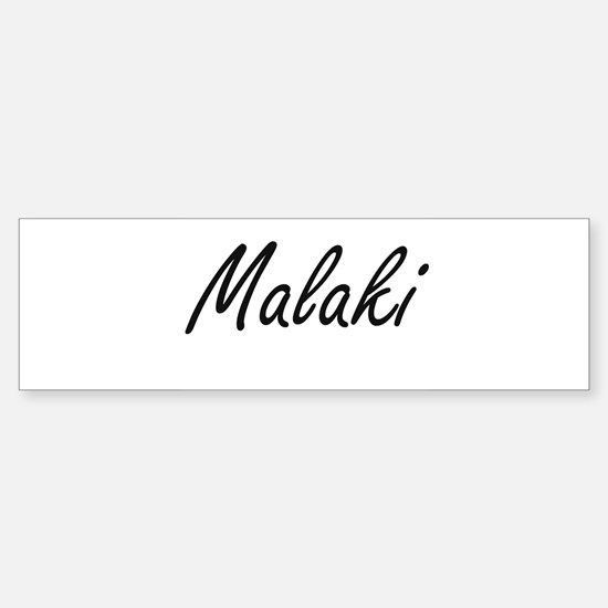 Malaki Artistic Name Design Bumper Car Car Sticker