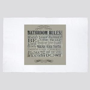 bathroom rules 4' x 6' Rug