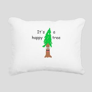 Happy Tree Rectangular Canvas Pillow