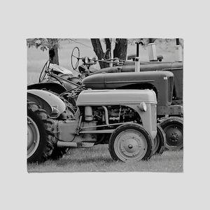Rusty Tractor Throw Blanket