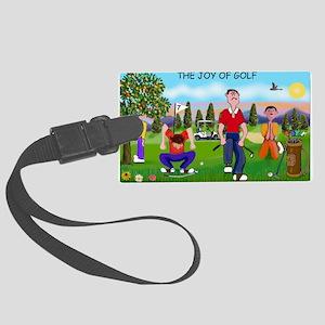 Joy of Golf 1 Large Luggage Tag