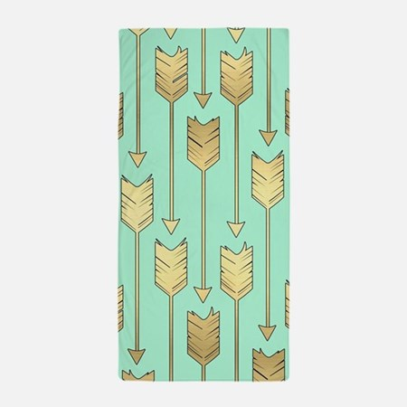 Boho Mint and Faux Gold Arrows
