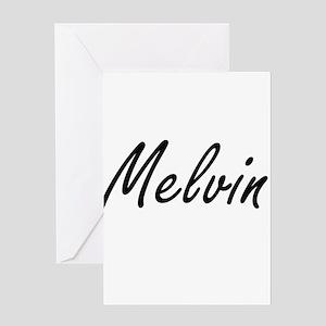 Melvin Artistic Name Design Greeting Cards