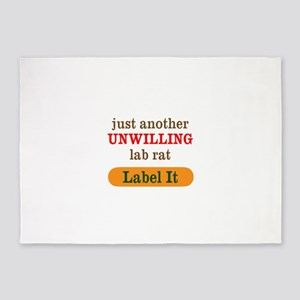 Unwilling Lab Rat 5'x7'Area Rug