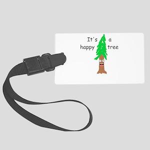Happy Tree Large Luggage Tag