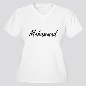Mohammad Artistic Name Design Plus Size T-Shirt