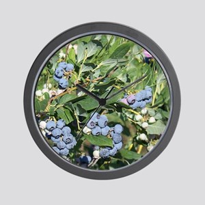 Blueberries and Morning Glories Wall Clock