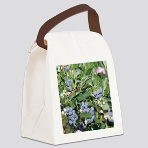 Blueberries and Morning Glories Canvas Lunch Bag