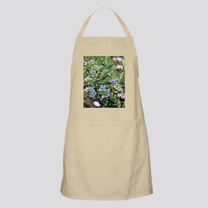Blueberries and Morning Glories Apron