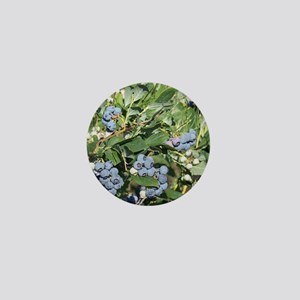 Blueberries and Morning Glories Mini Button