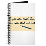 You Can Read Cursive Journal