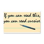You Can Read Cursive Rectangle Car Magnet