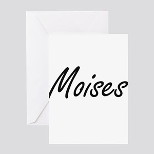 Moises Artistic Name Design Greeting Cards