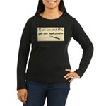 You Can Read Cursive Long Sleeve T-Shirt