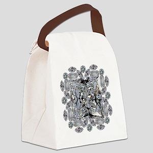 Diamond Gift Brooch Canvas Lunch Bag