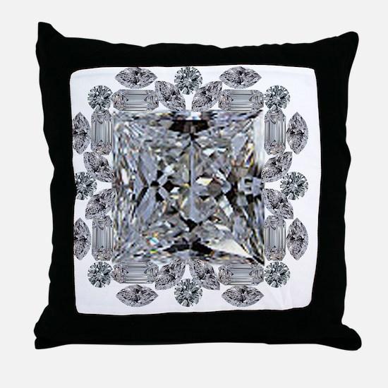 Diamond Gift Brooch Throw Pillow
