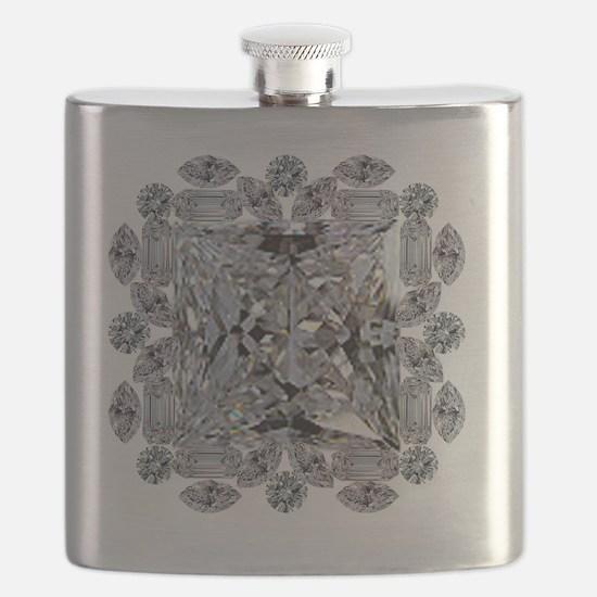 Diamond Gift Brooch Flask