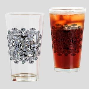 Diamond Gift Brooch Drinking Glass